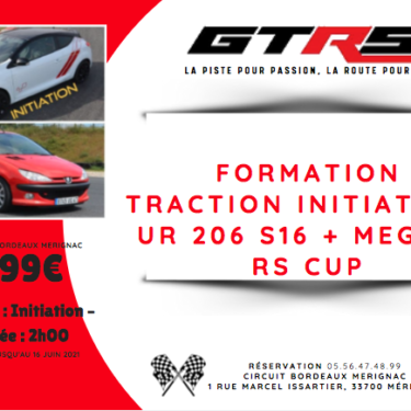 Formation traction <strong>Initiation</strong> sur 206 S16 + Megane RS CUP