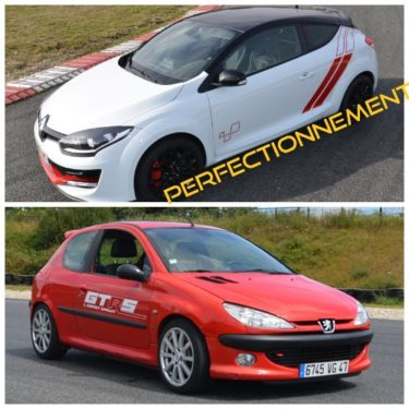 Formation traction <strong>Perfectionnement</strong> sur 206 S16 + Megane RS CUP